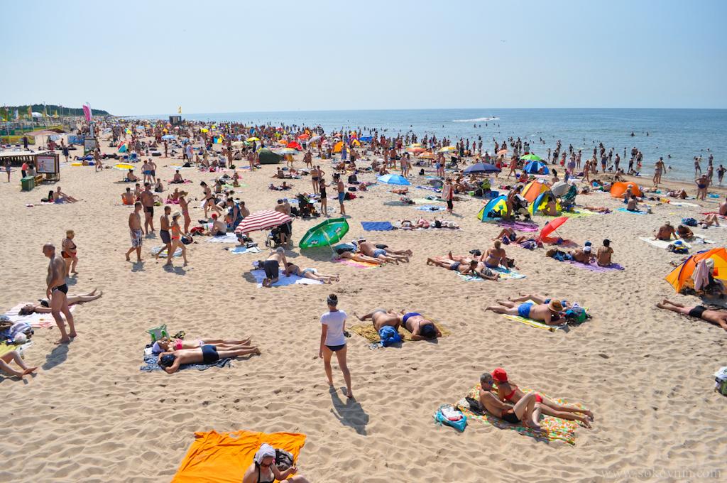 Центральный пляж в паланге
