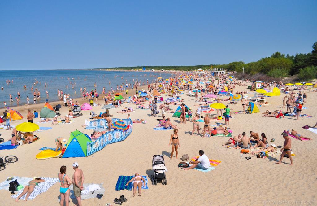 Городской пляж в паланге