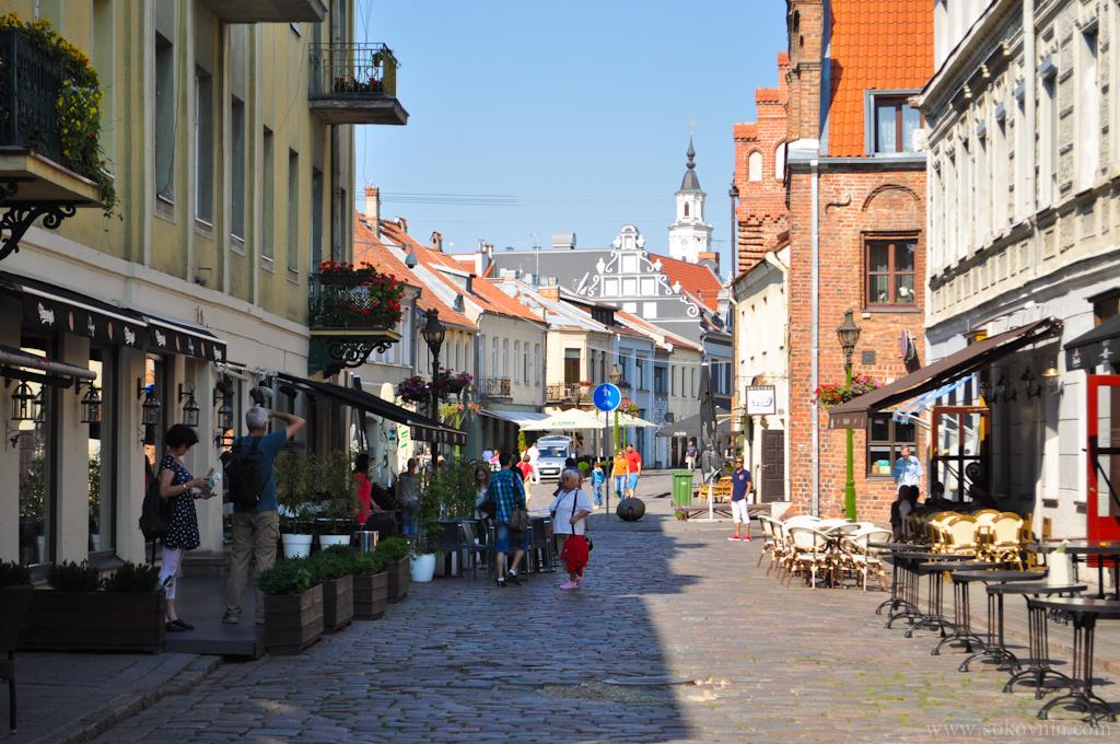 Центральная улица в Каунасе
