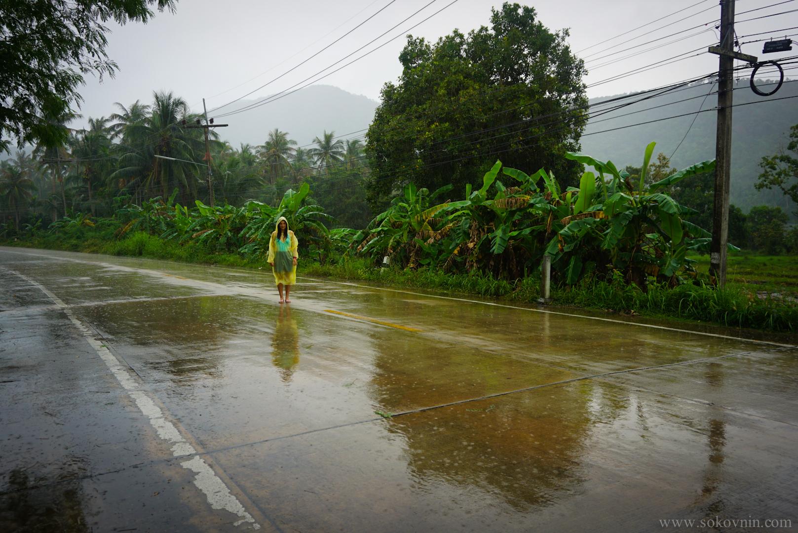 Тропический ливень на Пангане
