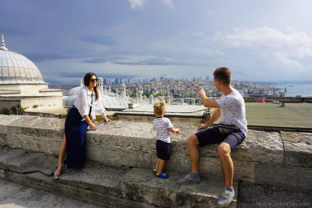 Классный вид на Стамбул