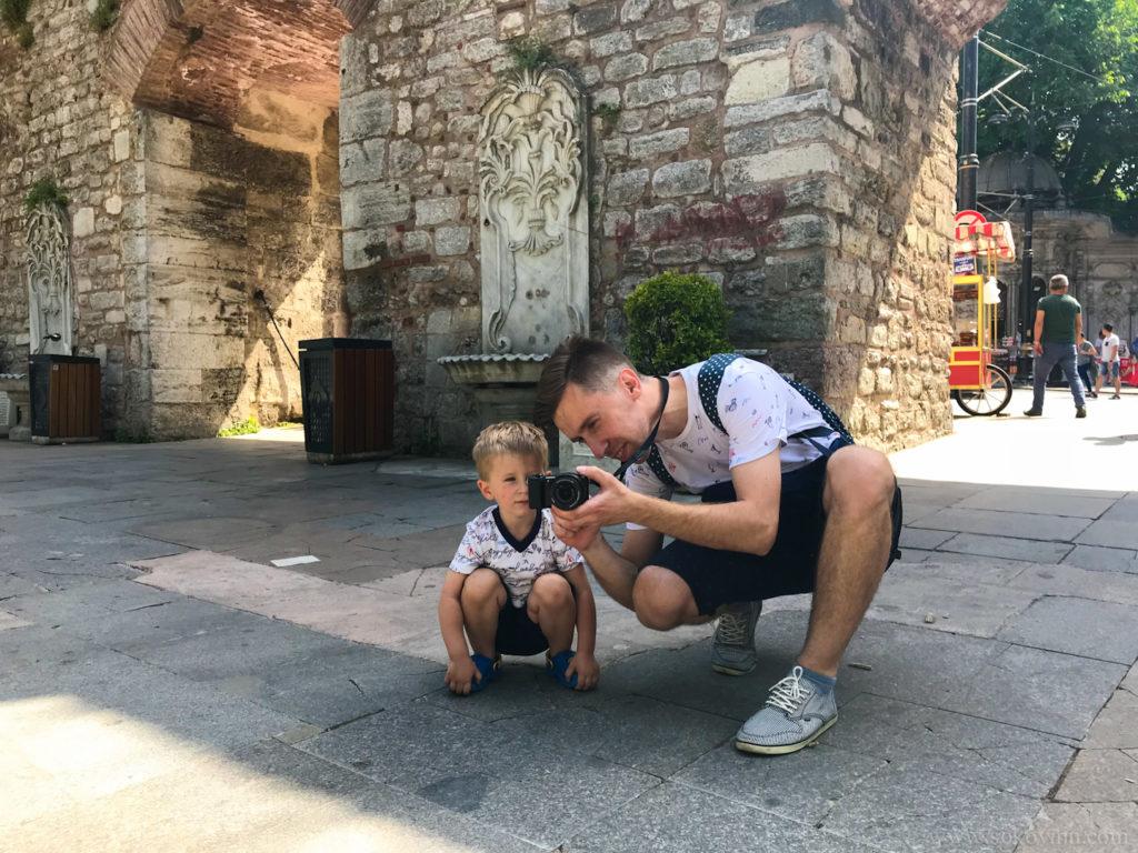 Учу сына фотографировать