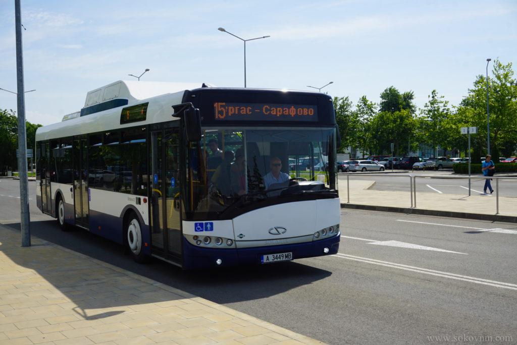 Автобус №15 из аэпопорта в Бургас